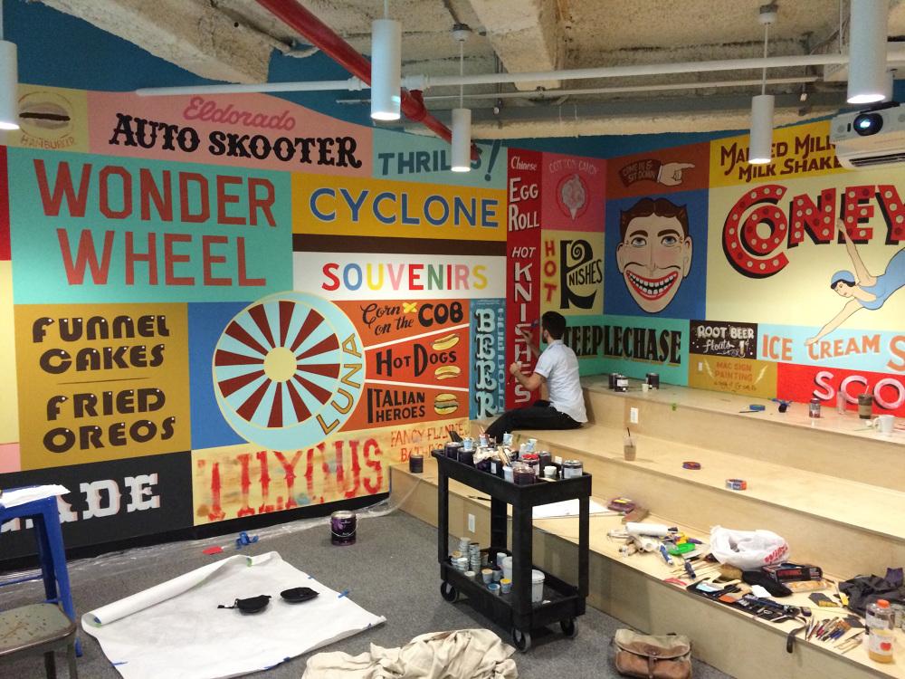 Venmo coney island mural colt bowden for Coney island mural