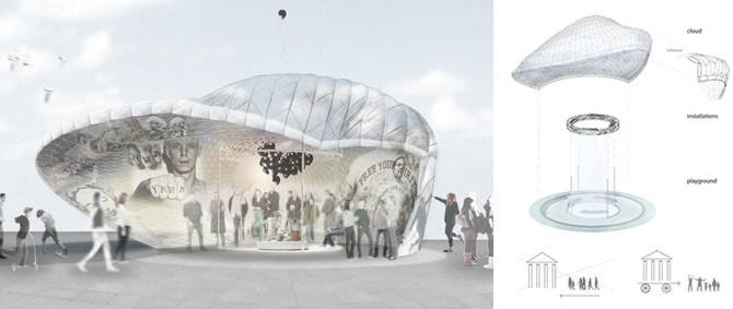 Freedom pavilion maxie schneider for Pavilion concept architecture
